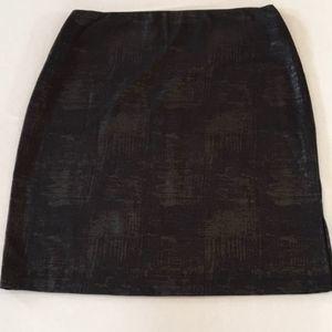 Apt. 9 XXL Black Foil Tummy Control Pencil Skirt